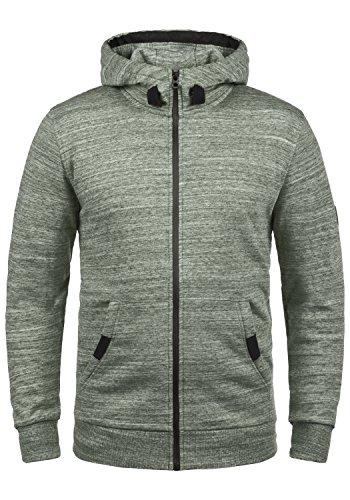 SOLID Obito Herren Sweatjacke Kapuzen-Jacke Zip-Hoodie aus einer hochwertigen Baumwollmischung Meliert, Größe:M, Farbe:Rosin M (3400)