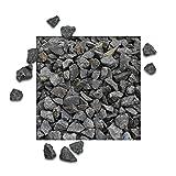25 kg Basaltsplitt Anthrazit Gartensplitt Ziersplitt Deko Marmor Dekoration Splitt Körnung 16/22 mm