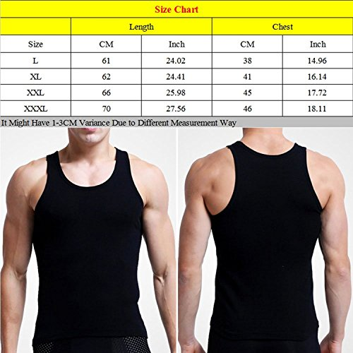 Linyuan Men's Cotton Wicking Vest Sport Gym Fitness Underwear Tank Top 3 Colors White
