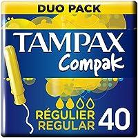 Tampax Compak Regular Tampones con Aplicador - 40Unidades
