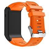 Replacement Strap Band,Clode® New Fashion Sports Silicone Bracelet Strap Band For Garmin vivoactive HR (Orange)