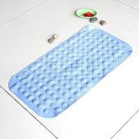 Pvc tappeto bagno tappetino anti-scivolo per perdite di acqua sicuro elegante con massaggio testa blu luce ,36*69cm ,G02 real