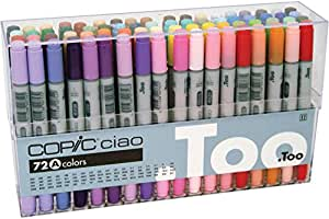 Copic Ciao 72 Piece Marker Set - A