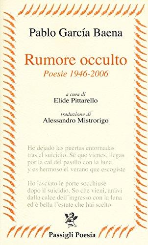 Price comparison product image Rumore occulto. Poesie 1946-2006