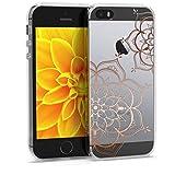 kwmobile Coque Apple iPhone Se / 5 / 5S - Coque pour Apple iPhone Se / 5 / 5S - Housse de téléphone en Silicone Or Rose-Transparent