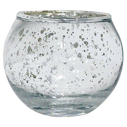 Just Artifacts Rund Quecksilber Glas Votiv Kerzenhalter Einheitsgröße Silber- (Glas Votives Silber-quecksilber)