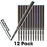 Jaymo - 12 - Recharges de stylo bille compatibles Montblanc bleu. Comparer avec Numéro d'article: 105151, 116213, MB35094