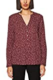 edc by ESPRIT Damen Bluse 128CC1F016, Rot (Bordeaux Red 600), Small