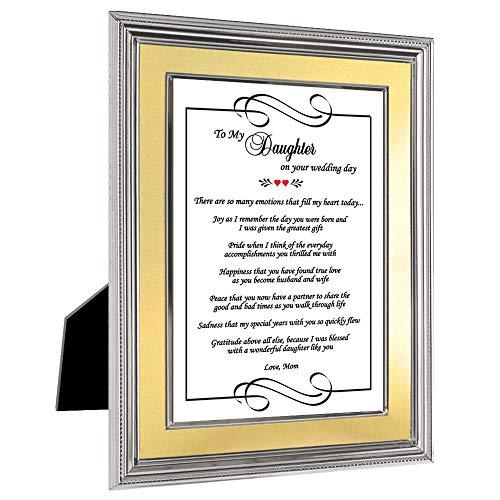 Spezielle Hochzeit Karte Geschenk für Tochter von Mutter in 5X 7Rahmen (5x7 Hochzeit Rahmen)