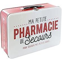 LA BOITE A BT6630 Caja Metálica con Texto en francés Pharmacie Rojo/Blanco 26,