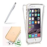 Shockproof 360° Protective Case For HUAWEI P10 LITE, Girlyard Back and Front Protective Silicone Case Cover For HUAWEI P10 LITE, Clear Transparent Ultra Thin Slim Skin Case Cover For HUAWEI P10 LITE-- Clear