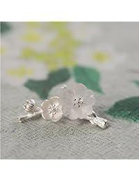 TT Broche de broche de plata para mujer broche,Plata,3cm * 1.9cm