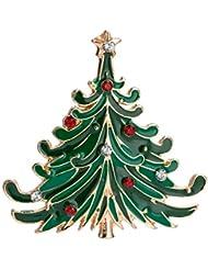 KUNQ Regalo Pareja/Regalo Navidad/De Alta Gama Árbol De Navidad Broches Regalos