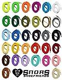SNORS LACETS de COULEUR PLATS 60-240cm, 34 couleurs, 2 largeurs - extrêmement durable, polyester - TOP qualité Lacets pour baskets, chaussures de sport décontractées et enfants