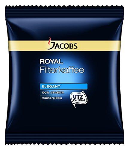 Jacobs Royal Elegant Filterkaffee - Karton 80 x 60g Kaffee gemahlen, 100% Arabica