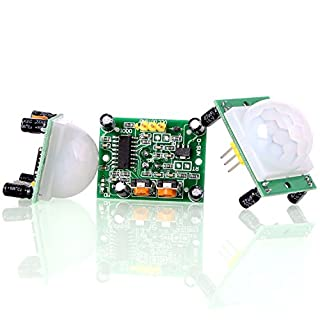 Aukru 3x HC-SR501 Human Body Pyroelectric Infrared PIR Motion Sensor Detector Modules