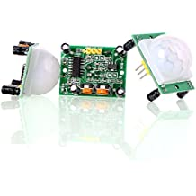 Aukru 3x HC-SR501 corpo umano Pyroelectricity infrarosso PIR Sensore di movimento moduli per Arduino e Raspberry