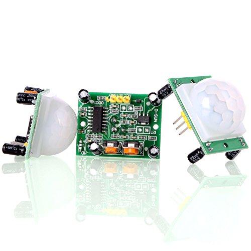Aukru 3x HC-SR501 Menschliche Körper Pyroelektrizität Infrarot PIR Bewegungssensor Modul für Arduino und Raspberry
