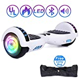 Jolege 6,5 Zoll Hoverboard Self Balancing Scooter, Hover Board Kinder, Elektroroller mit LED - Licht Bluetooth, Segway, Dual 300W Motor, UL - zertifiziert