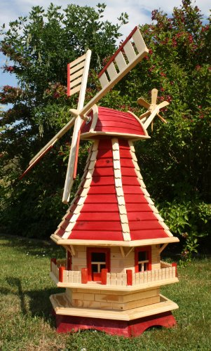 Große Windmühle  rot/natur Typ 3