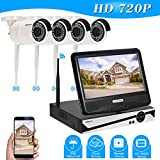 KKmoon Funk Videoüberwachungset CCTV System Kit 10,1