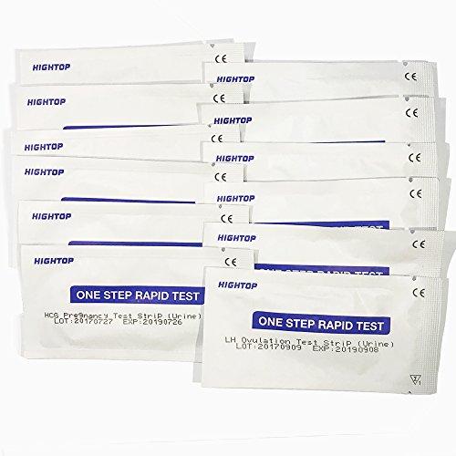 30 hochsensible Ovulation / Fruchtbarkeitstests Streifen und 10 hochempfindliche Schwangerschaft (HCG) Teststreifen 25miu / ml klar genaue schnelle Ergebnisse