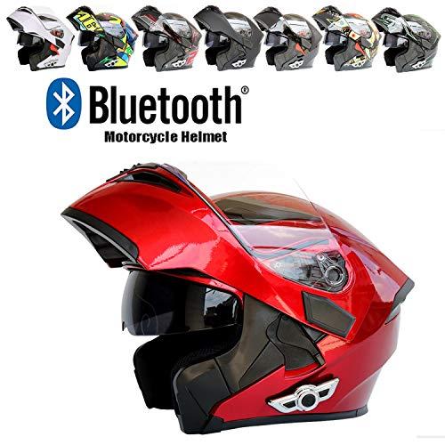 Evin Bluetooth Headset Casco Integrale, Scooter e Moto da Uomo e da Donna Walkie-Talkie ATV/MX/DH/MTB/UTV,M