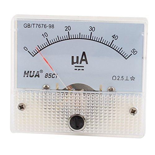 Sourcingmap a14090900ux0194-85c1 panel de la cc amperio de corriente medidor analógico amperímetro 0-50ua