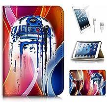 (para iPad Mini 4, generación 4) tipo libro funda y protector de pantalla Paquete. A3904Star Wars BB8casco