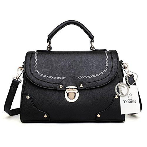 Borse coreane della borsa della borsa Yoome per le ragazze Borse rivetate per le donne Borse piccole per trucco - Borgogna Nero