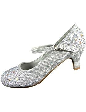 Spot On - Zapatos de vestir de Material Sintético para niña