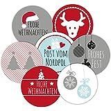 """48 Aufkleber / Sticker """"Frau Wundervoll"""" Weihnachten / Weihnachtsaufkleber/ Adventsaufkleber"""