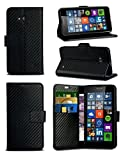 For Huawei Ascend Y550 - Carbon Fibre Style Leather Wallet
