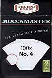 Moccamaster No.4 Filter Paper - 100 Filters Box