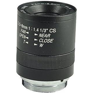 Objektiv für Sicherheitskamera, 3,5-8 mm Gleitsicht, CS-Mount-Objektiv F1.4, manuell einstellbare CCTV