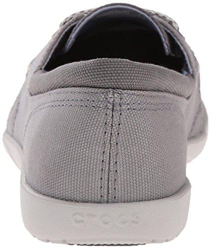 Crocs Walu Ii Canvas Loafer Concrete/Pearl White