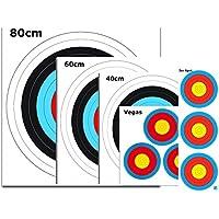 WA tiro con arco tiro cojines Mix en 5tamaños diferentes, incluye 4Scheibe clavos