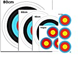 WA Bogenschießen Zielscheiben Auflagen Mix in 5 verschiedenen Größen inkl. 4 ASES Scheibennägeln und est-bogensport Aufkleber