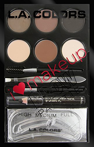 L. A. COLORS I Heart Makeup Brow Palette - Medium To Deep