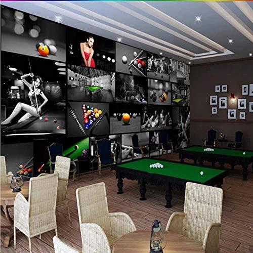 Mesa Wallpaper (Mkkwp Sala De Billar Europea Sala De Tenis De Mesa 3D Wallpaper Mural Impresión De Fotos Papel De Pared Decoración De Pared Pintura Murales Tamaño Personalizado300Cmx210Cm)