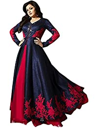 Fast Fashions Womens Bengalori/Benglory Cotton Silk Anarkali Frock Suit Gown Latest Design Semi-stitched Party...