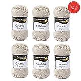 Catania Wolle Leinen Fb 248 (beige) - Baumwolle zum Stricken - Schachenmayr Catania Wolle - Baumwolle zum Häkeln - Wolle Catania Schachenmayr - 100% Baumwolle - GRATIS MyOma Wollrausch Label pro Lieferung