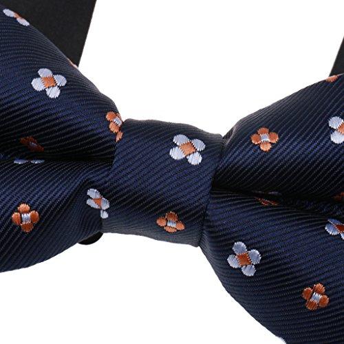 Nouvelle Mode N½ud Papillon Réglable en Polyester Soie pour Homme Mariage/Bal Soirée-10 Choix de Style # 5
