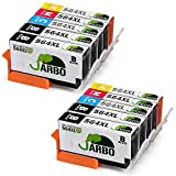 JARBO 4 Color Replacement for Printer ink HP 564 High Yield 2 Sets+2 Black Used in HP Photosmart 5520 6520 7520 5510 6510 7510 7525 B8550 C6380 Premium C309A C410 Officejet 4620 Deskjet 3520