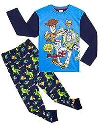 Disney Toy Story 4 Pijama Niño, Pijamas Niños Manga Larga con Personajes Buzz Lightyear Woody y Forky, Ropa Niño de Dormir 100% Algodón, Regalos para Niños 18-24 Meses 2-8 Años
