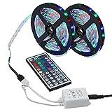 3528 SMD 600LEDs RGB Farbwechsel Flexible Led Streifen Licht Kit + 44key IR Fernbedienung für Home Decorative