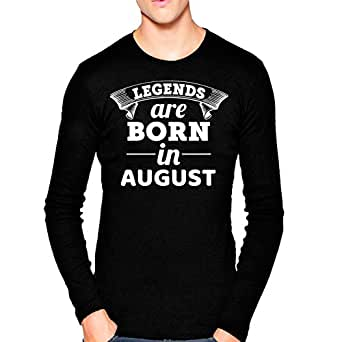 69ecf369 ... Wild Thunder Men Cotton Legends are Born in August, Birthday Printed T  Shirt