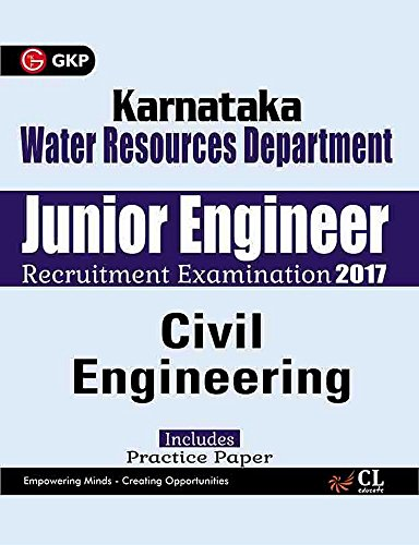 Karnataka Water Resources Department Junior Engineer Civil Engineering 2017