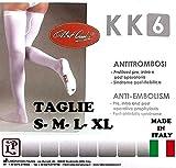Calze Autoreggenti 1 PAIO Post-Parto e Post-Operatorie Antitrombosi a Compressione Graduata KK6 - Made in Italy (M - Standard)