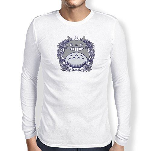 NERDO - Nachbarn - Herren Langarm T-Shirt Weiß